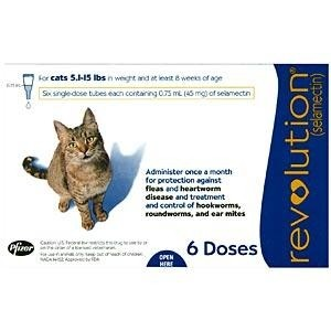 Revolution for Cats (5-15 lbs) 6 months Supply